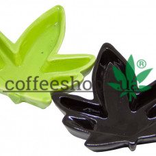 Ashtray hemp leaf