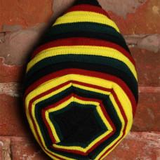 Шапка вязаная черно-желто-красная