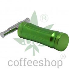 Big green press for hemp