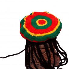Вязаные растаманские береты и шапки